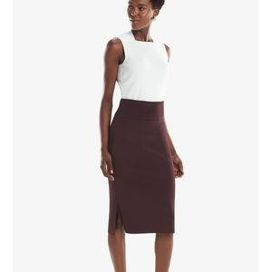 NWT The Harlem Skirt Bordeaux Pencil Skirt Work